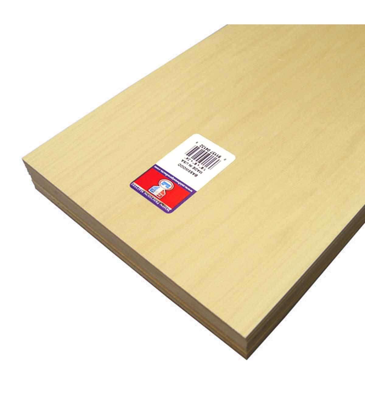 Basswood Sheet-1/8th x 8 x 24 Basswood Sheet