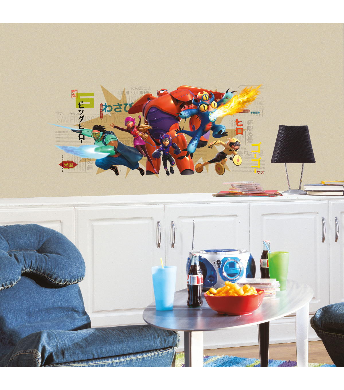 York Wallcoverings Peel & Stick Wall Decals-Big Hero 6 Graphix