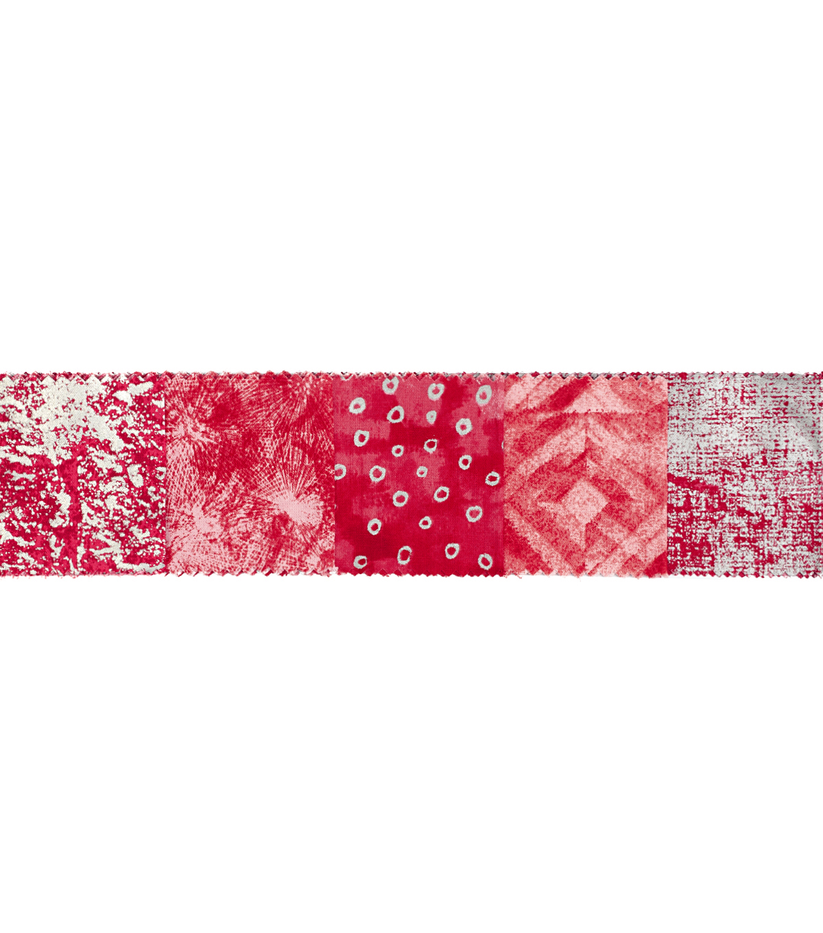 Quilt Fabric Roll 2.5\u0022-Red Metalic