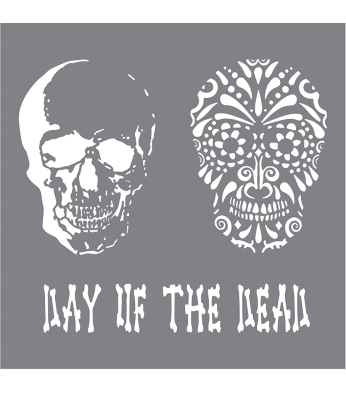DecoArt Andy Skinner Mixed Media 8\u0027\u0027x8\u0027\u0027 Stencil-Day of the Dead