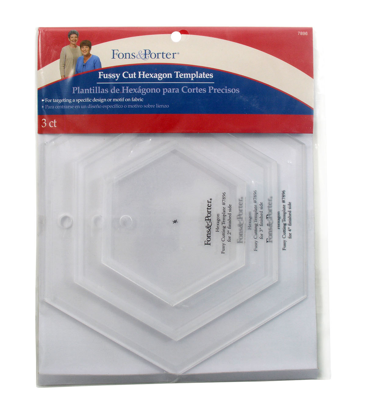 Fussy Cut Hexagon Templates