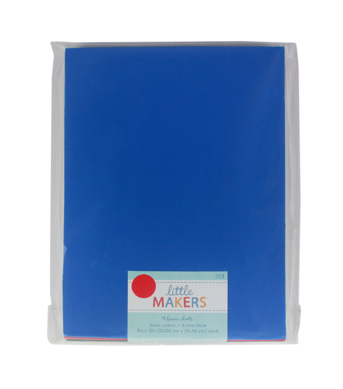 Little Makers 9X12\u0027\u0027 Thick Non Adhesive Foam Sheet-Patriotic
