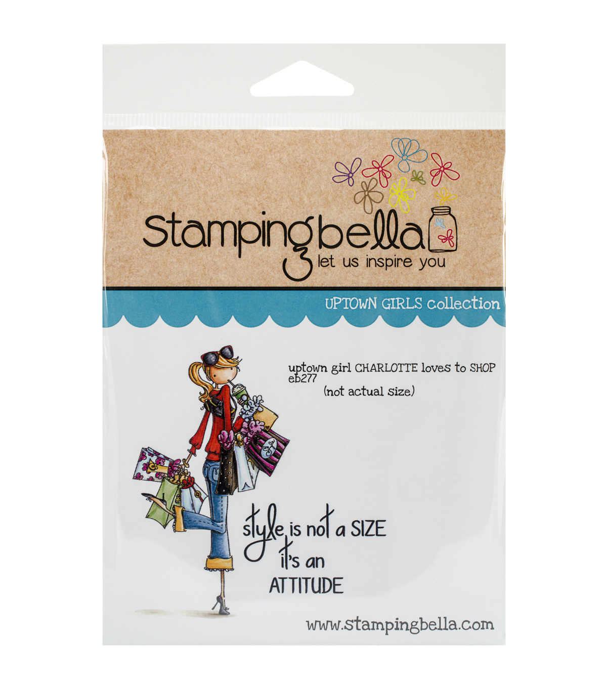 Stamping Bella Uptown Girl Charlotte Loves To Shop Cling Rubber Stamp