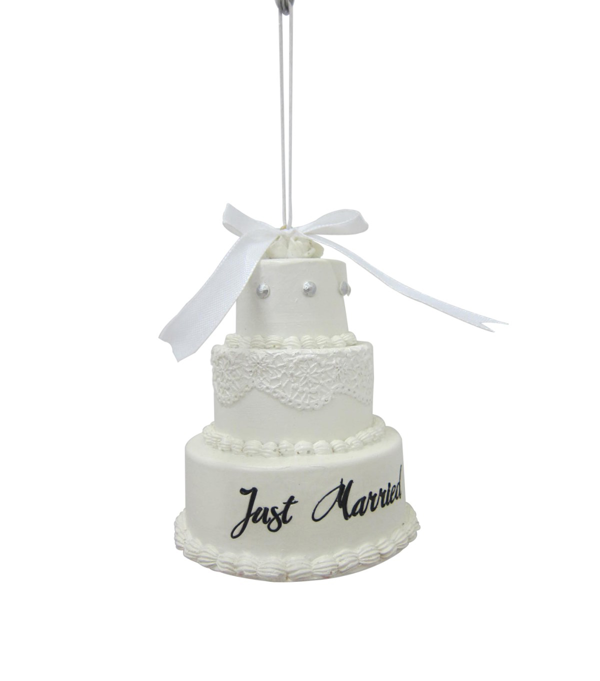 Maker\u0027s Holiday Christmas Cake Ornament-Just Married