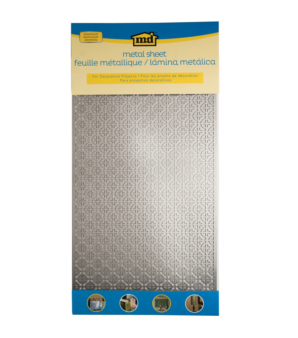 Silver Colored Metal Sheet 12\