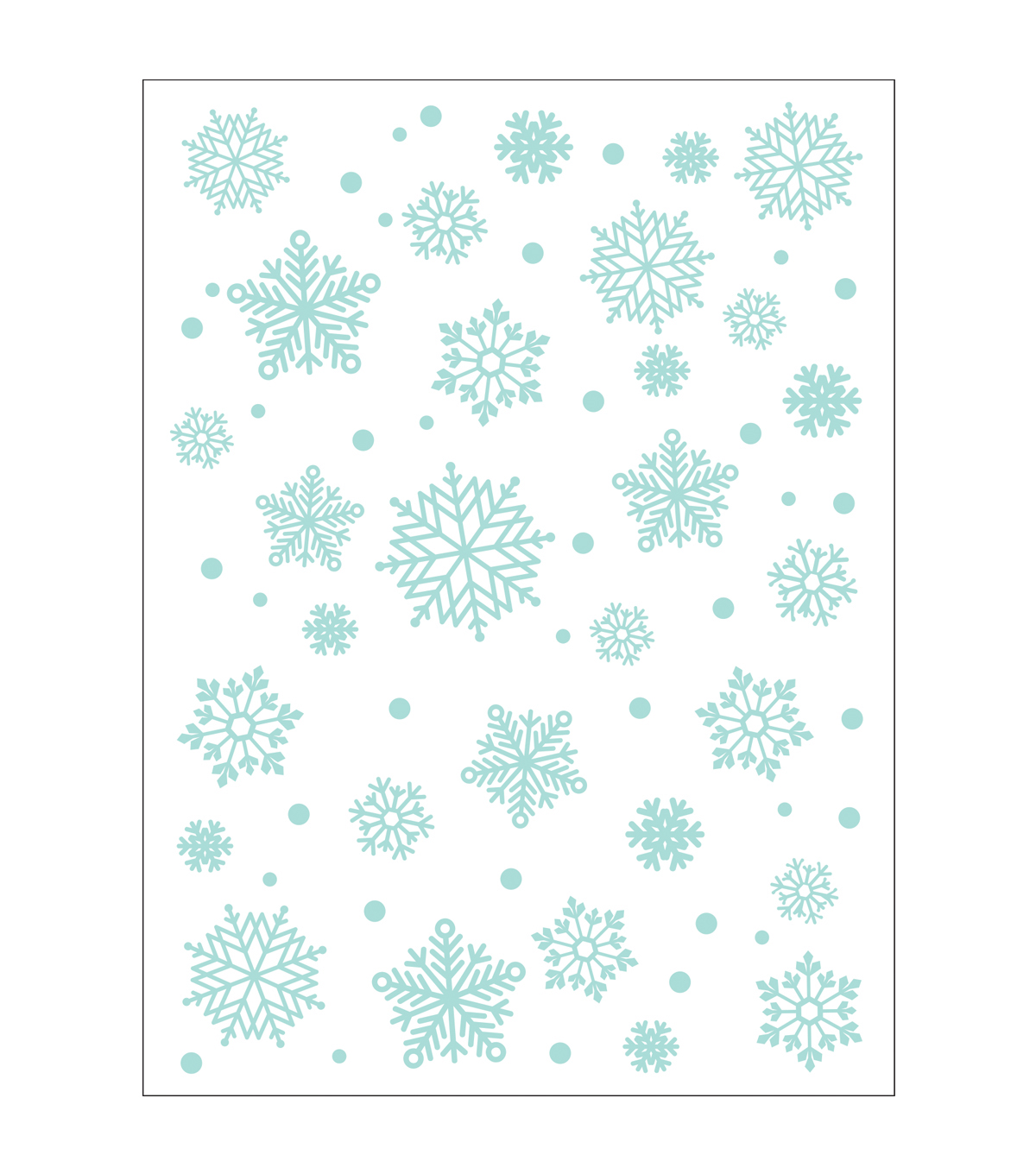 Park Lane A2 Embossing Folder-Snowflakes