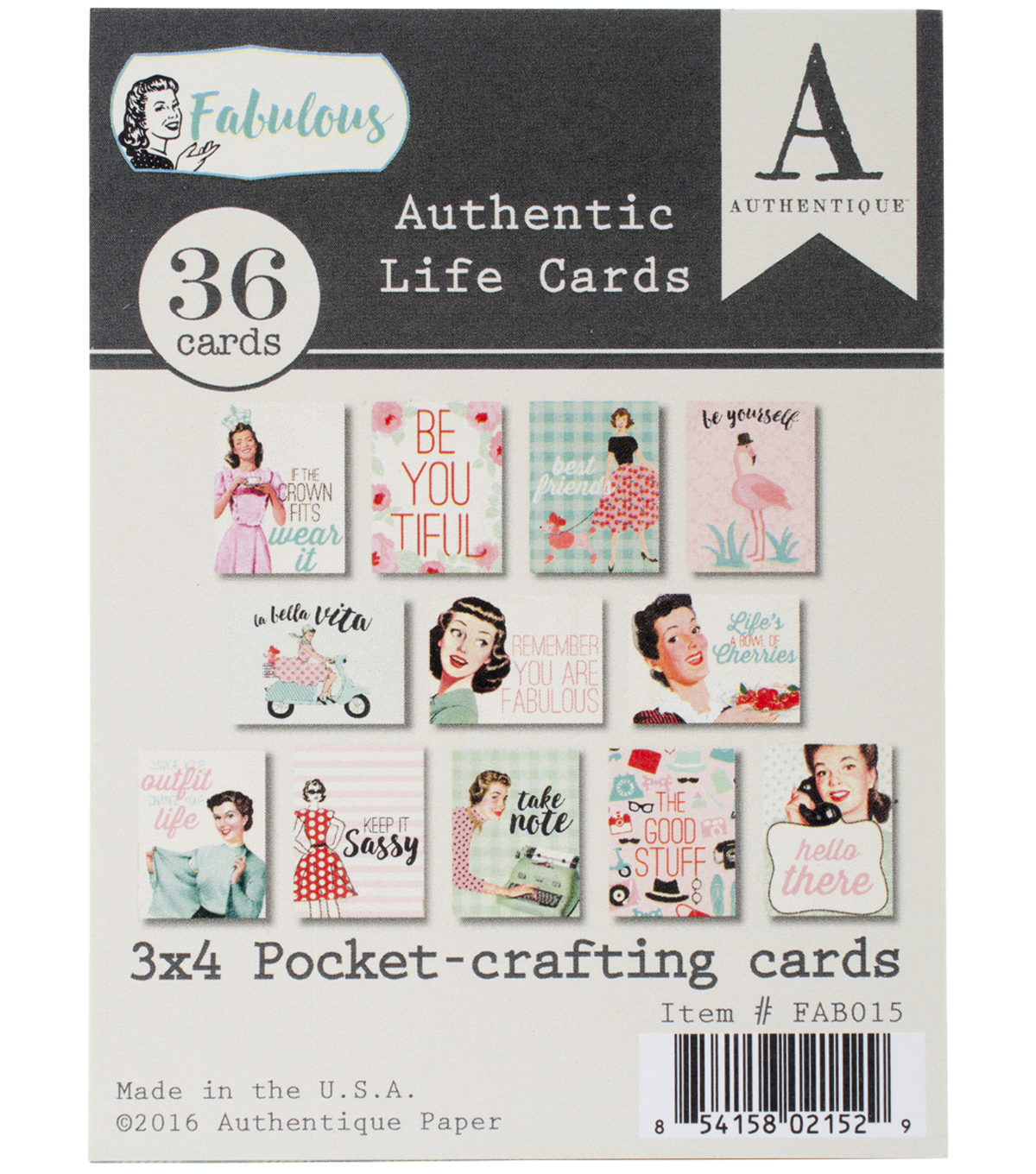 Fabulous Authentic Life Cards 3\u0022X4\u0022 Pocket Crafting & Journaling Cards
