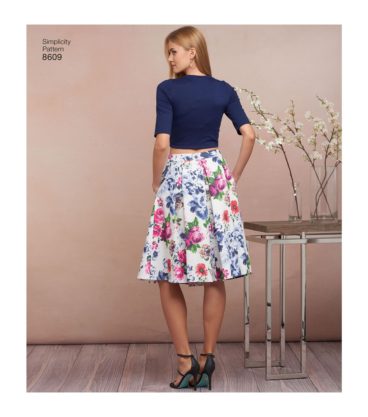 Simplicity Pattern 8609 Misses\u0027 Skirts & Knit Tops-Size D5 (4-6-8-10-12)