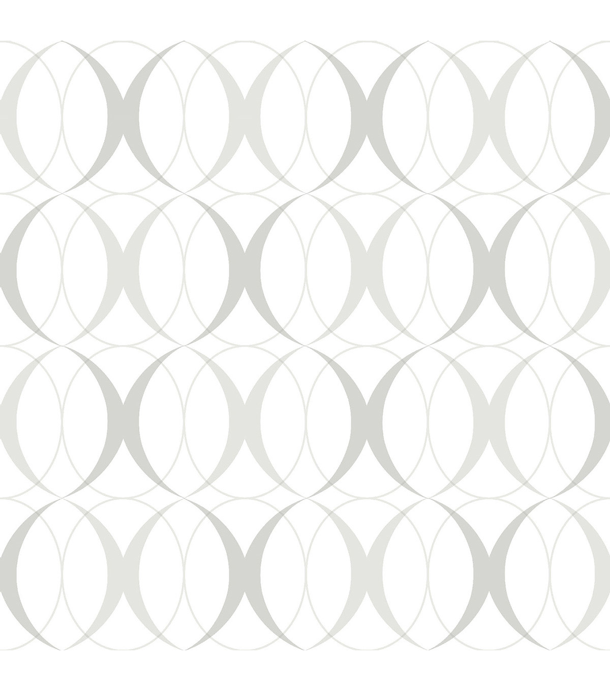 WallPops NuWallpaper Light Silver Circulate Peel  & Stick Wallpaper