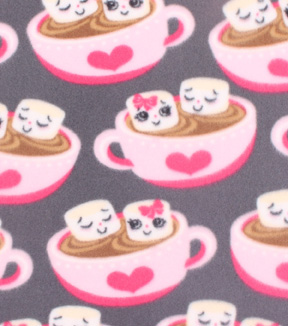 Blizzard Fleece Fabric -Happy Hot Cocoa