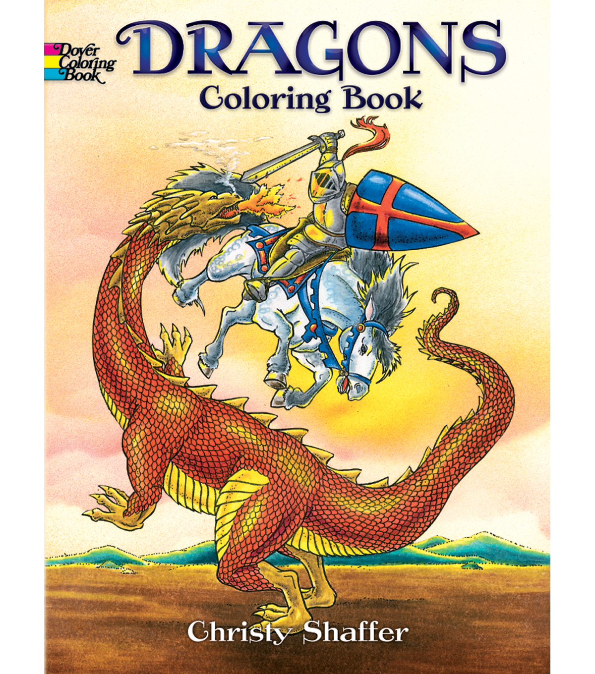 Adult Coloring Book-Dover Publications Dragons