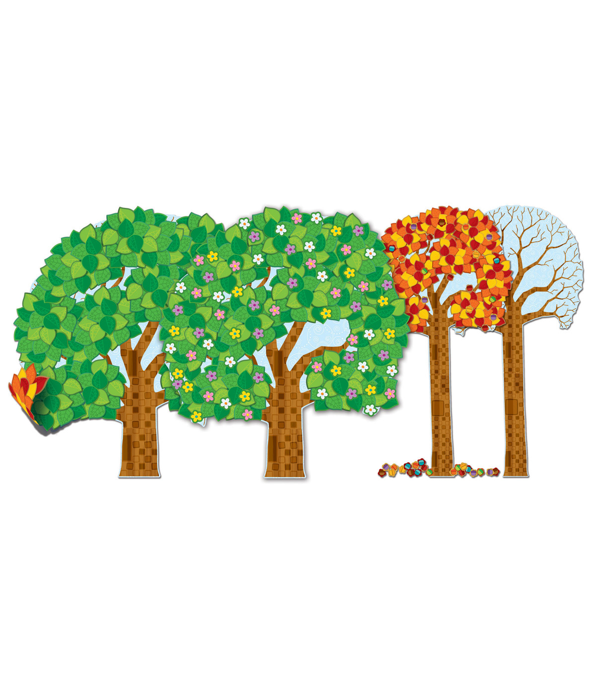 Big Seasonal Tree Bulletin Board Set