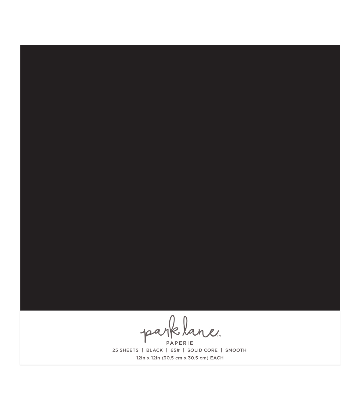 Park Lane 25 pk 12\u0027\u0027x12\u0027\u0027 Value Papers-Black