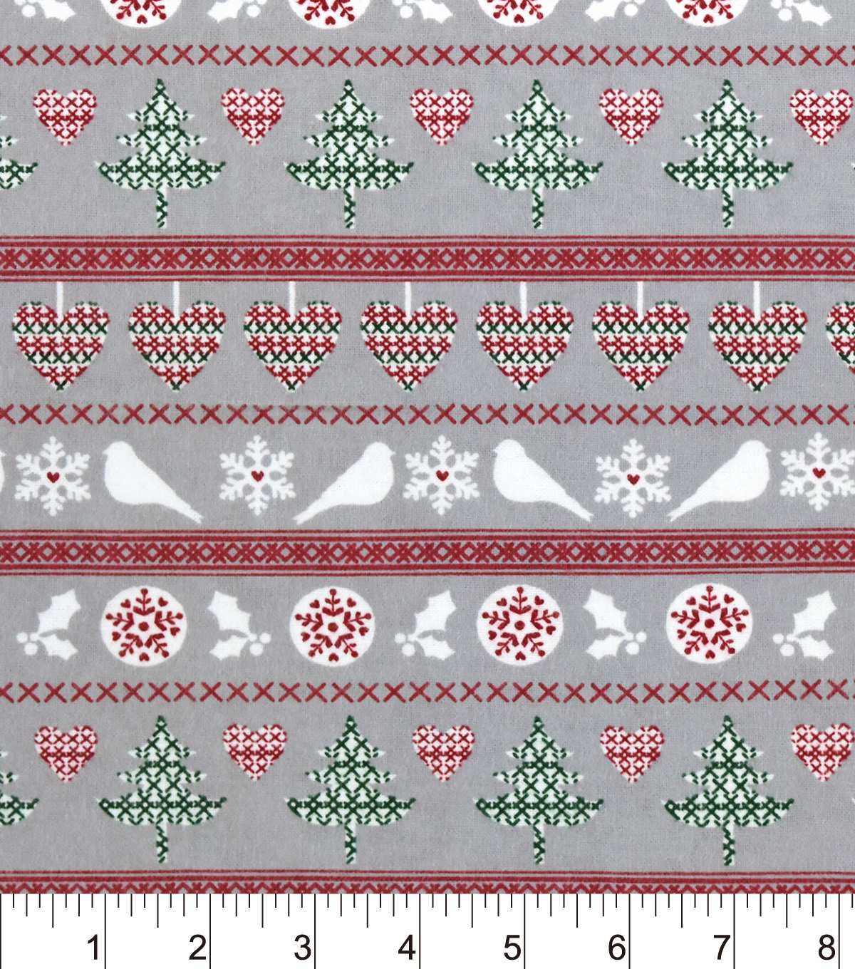 Snuggle Flannel Fabric 42\u0022-Nature Winter Fair Isle