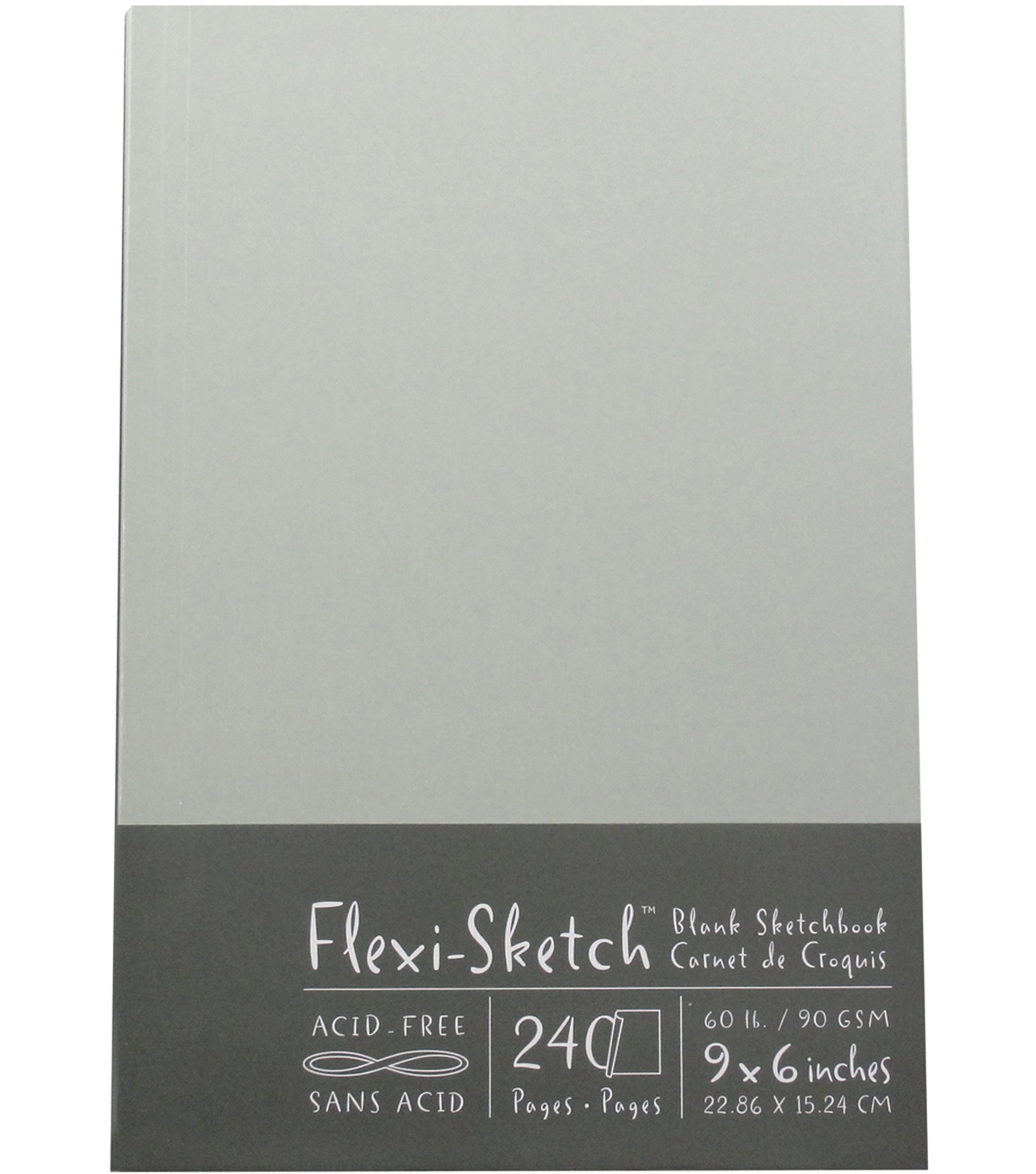 Flexi-Sketch Blank Sketch Book 6\u0022X9\u0022-120 Sheets-Mist