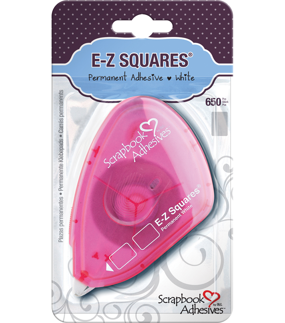Scrapbook Adhesives E-Z Square Tabs 650/Pkg-Permanent