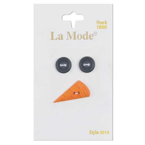 La Mode Snowman Eyes And Nose