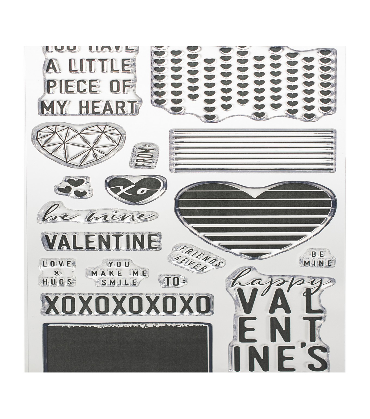 Concord & 9th Clear Stamps 4\u0022X8\u0022-Little Love Tags