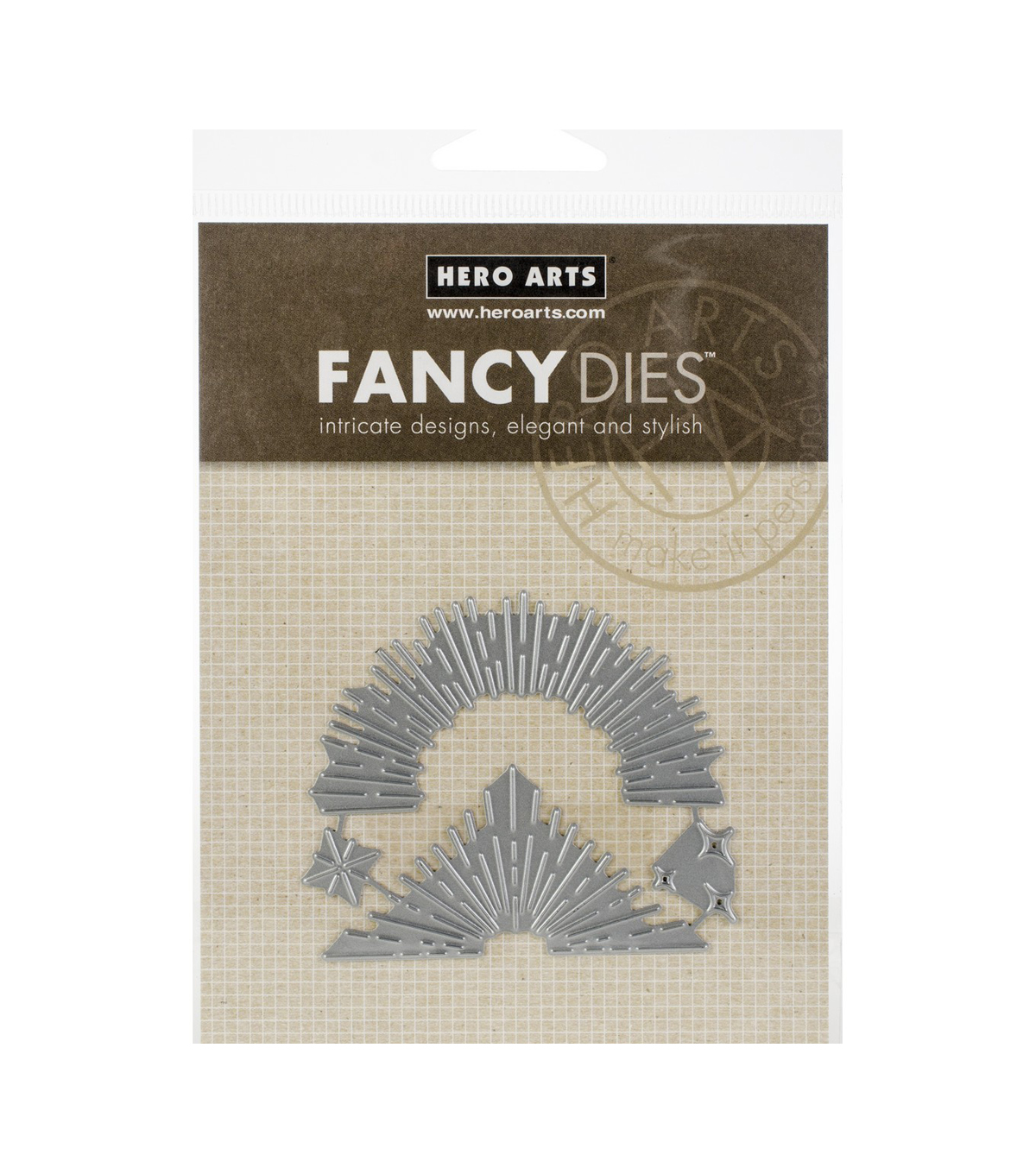 Hero Arts 4 pk Metal Fancy Dies-Sunburst