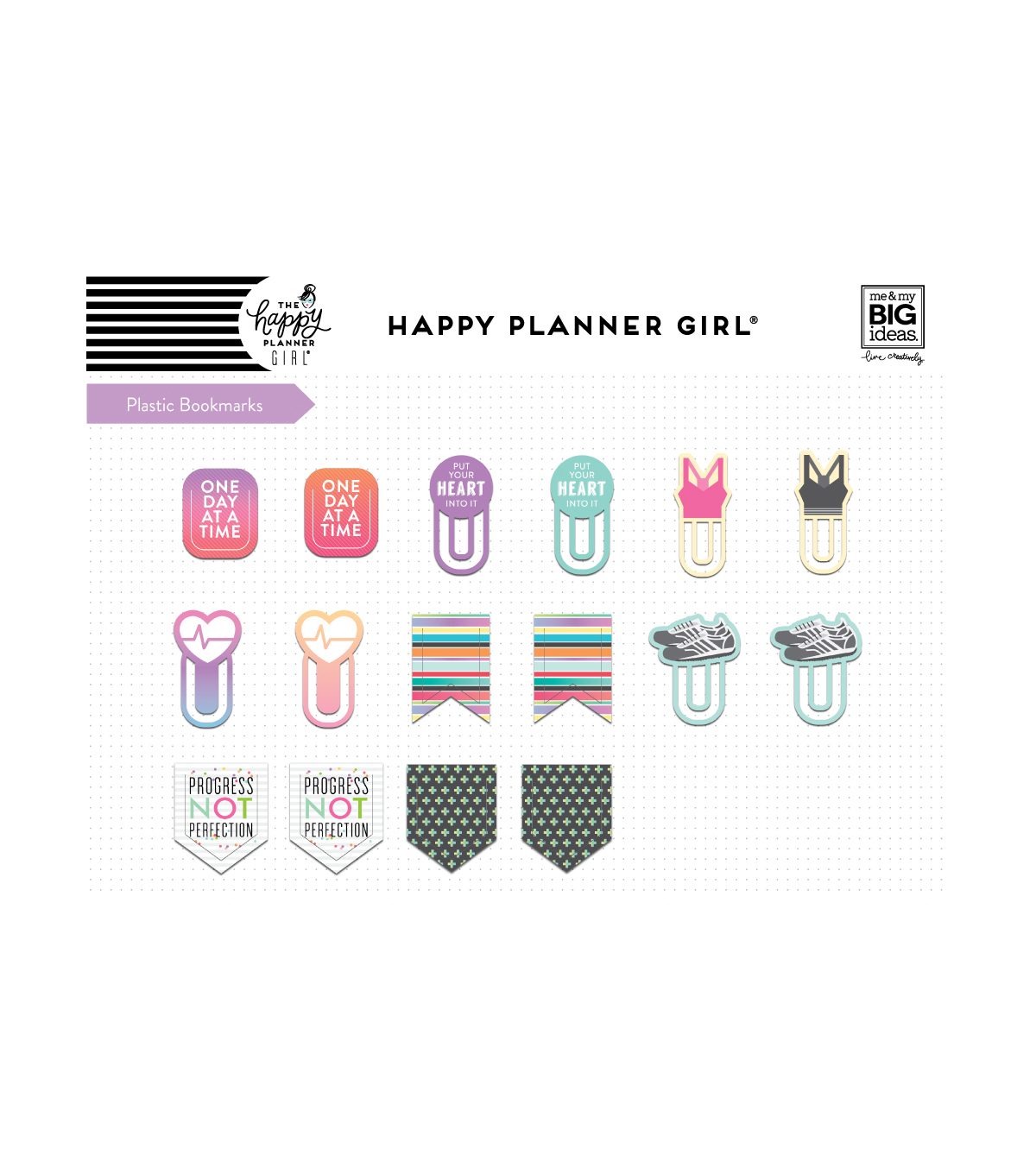 The Happy Planner Girl Bookmarks-Healthy Hero