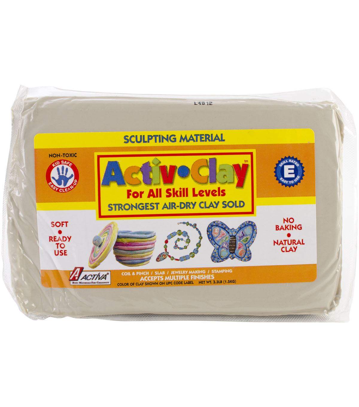 Activ-Clay Self Hardening White Clay 3.3 lb