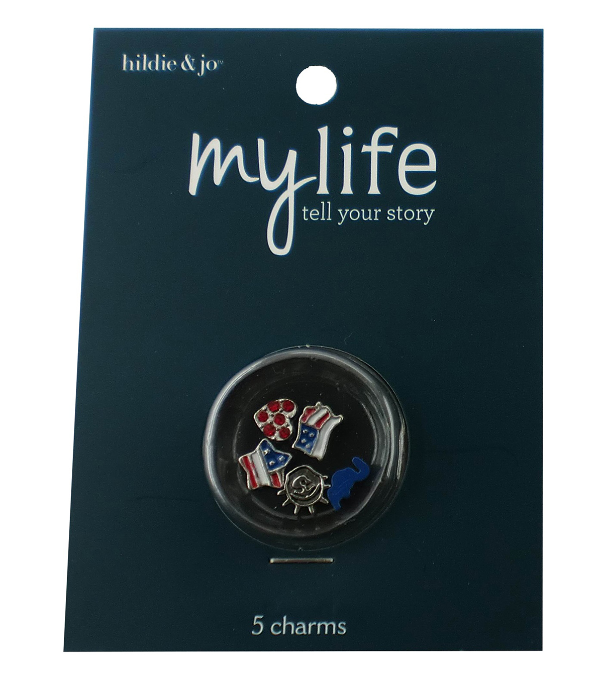 hildie & jo My Life 5 Pack Locket Charms-USA