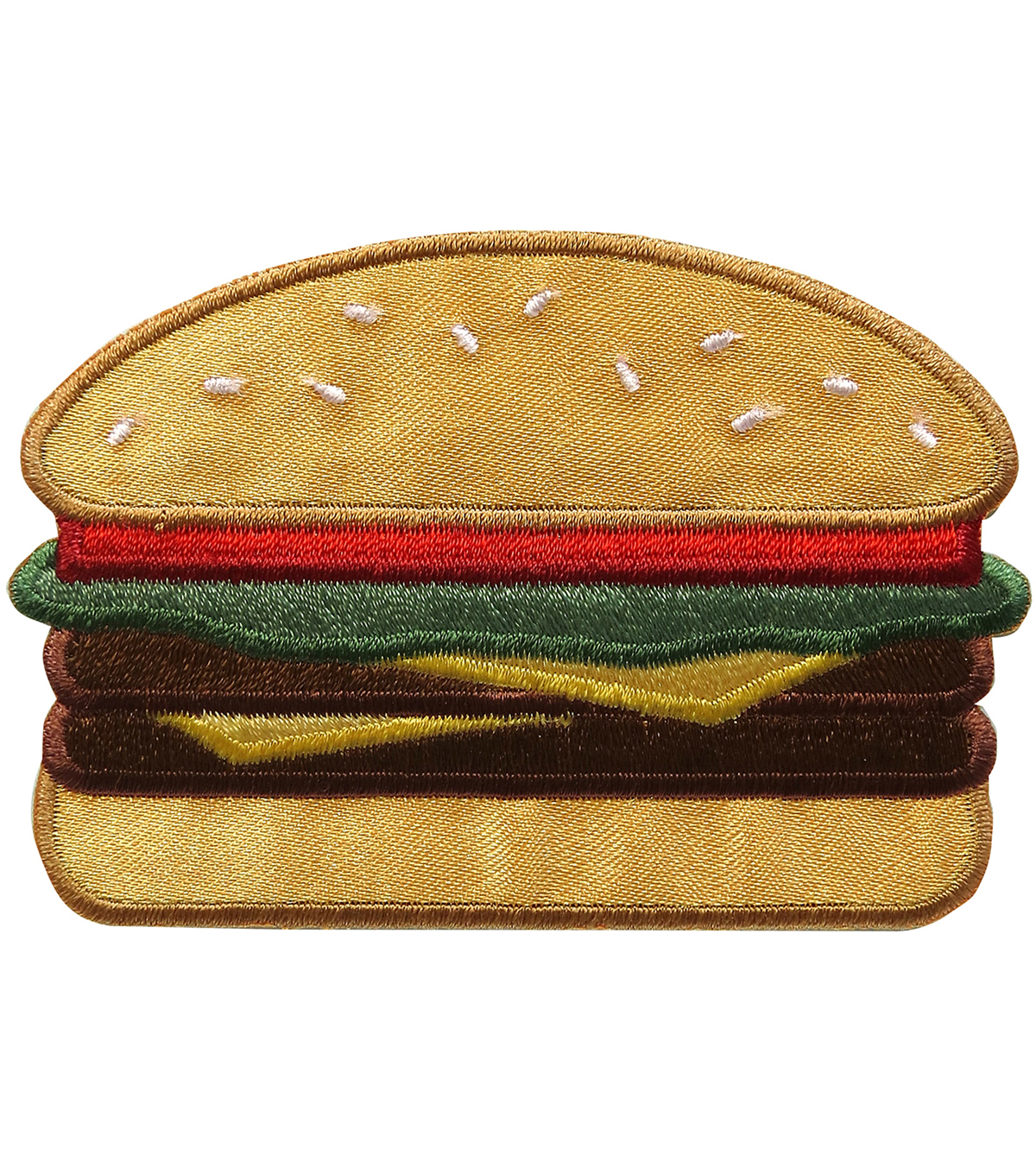 Simplicity Embroidered Iron-On Applique-Hamburger
