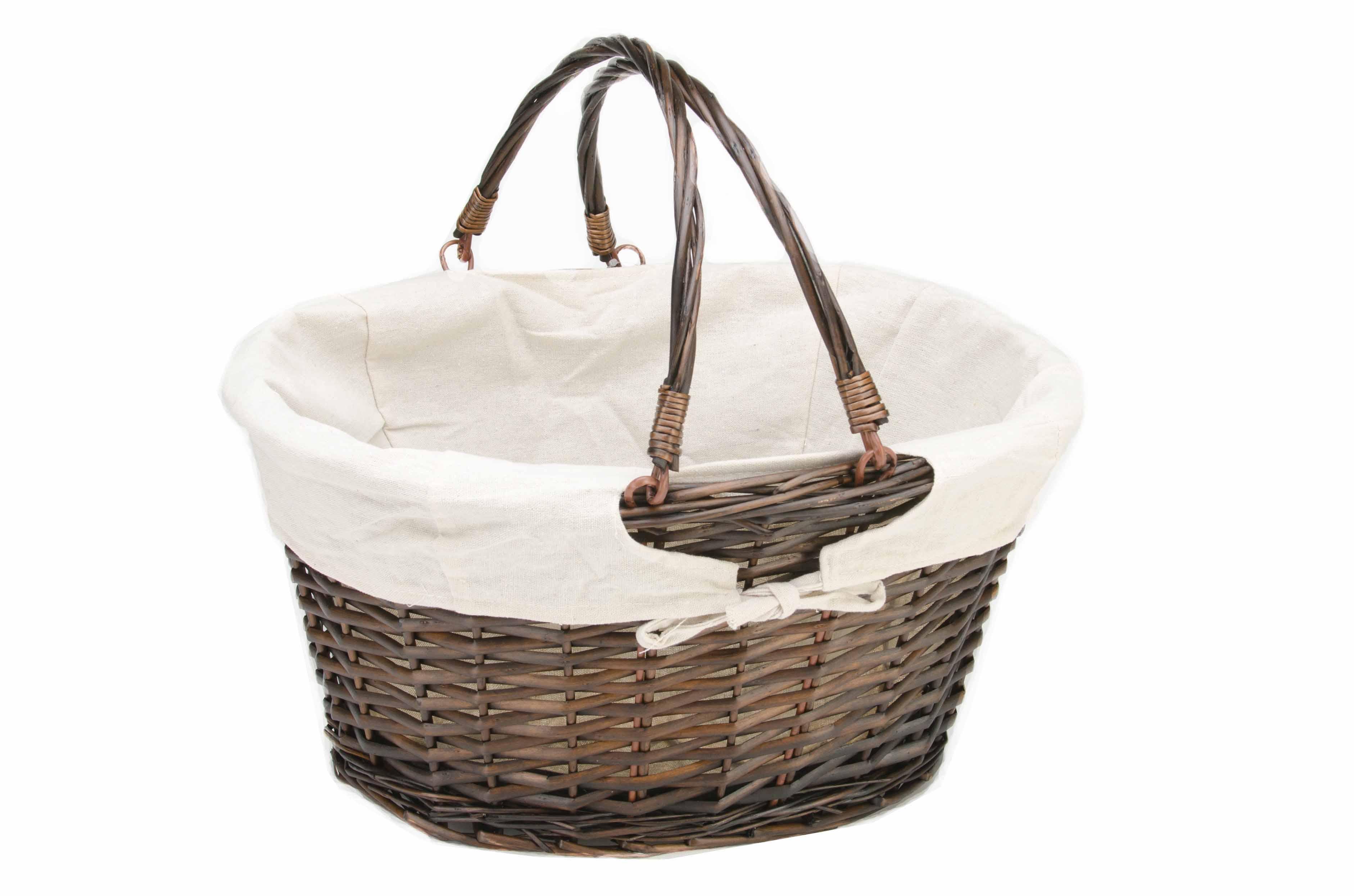 Oval Lined Willow Basket Swing Handles Joann