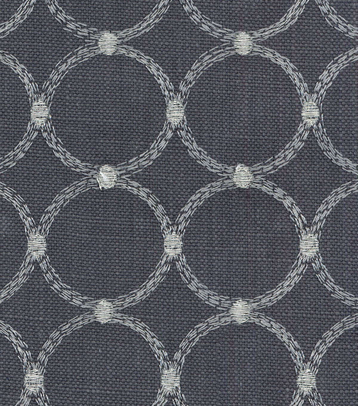 P/K Lifestyles Multi-Purpose Decor Fabric 57\u0022-Ringtone Emb Iron