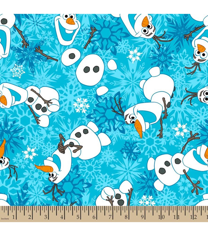 saada uutta ennakkotilaus uusi julkaisu Disney Frozen Fleece Fabric-Olaf Snowflake
