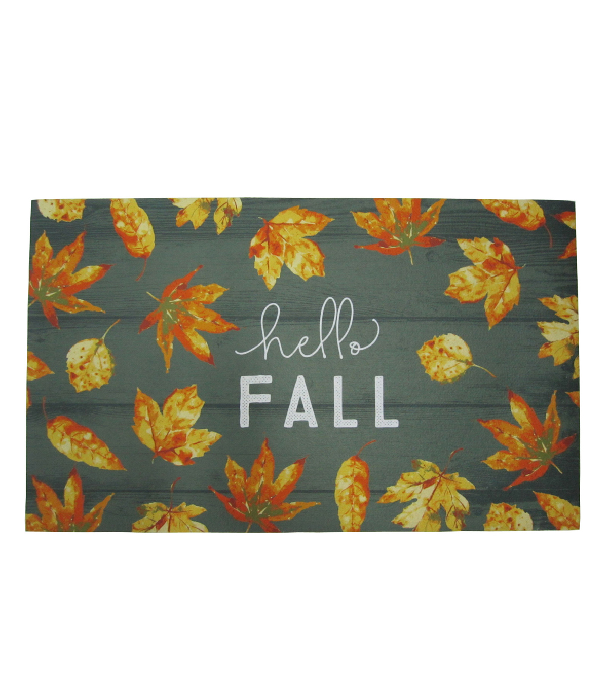 Simply Autumn Rubber Mat-Leaves & Hello Fall