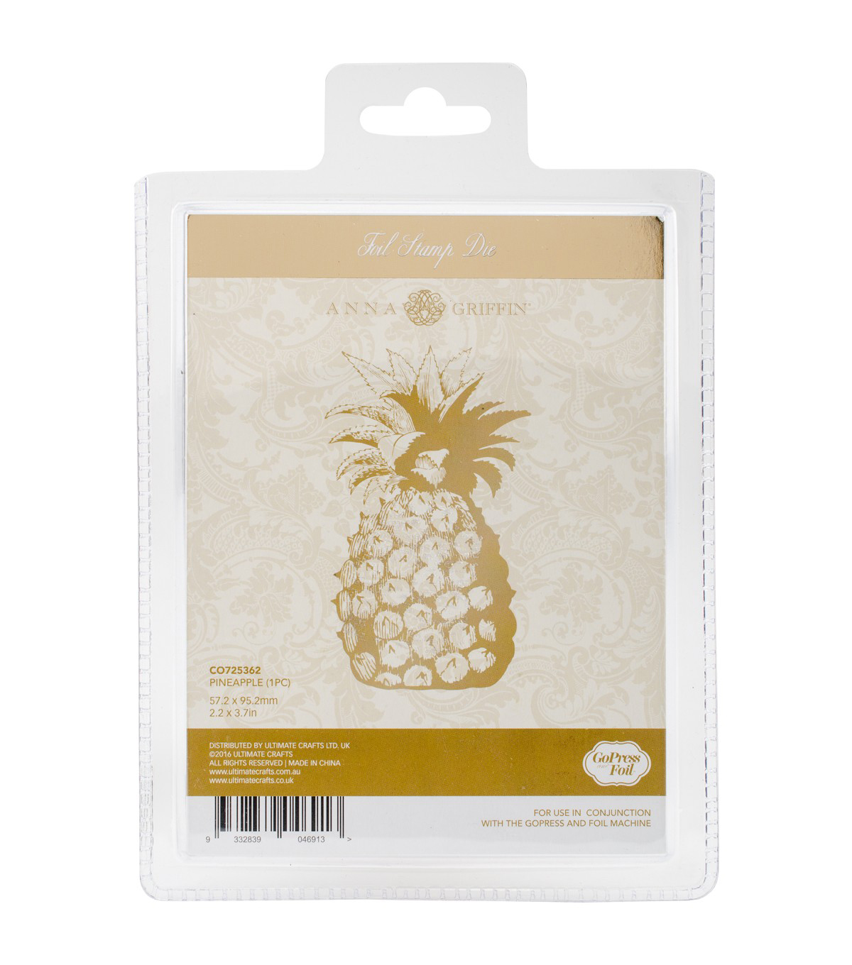 Couture Creations Anna Griffin Hotfoil Stamp-Pineapple