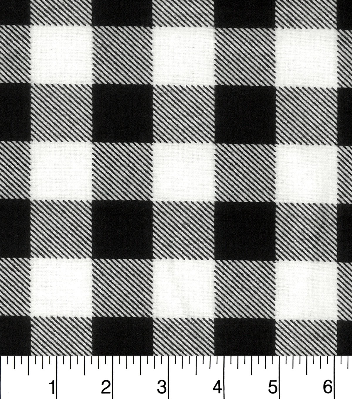 Snuggle Flannel Fabric 42\u0022-Black White Buffalo Check
