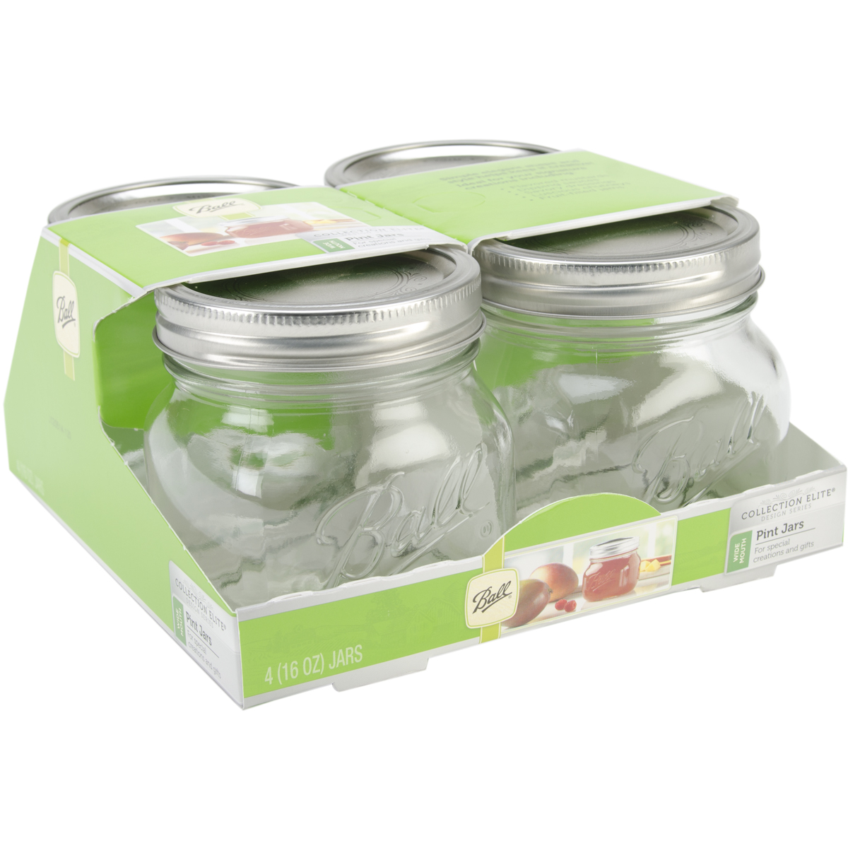 Ball Wide Mouth Canning Jar 4/Pkg-Pint