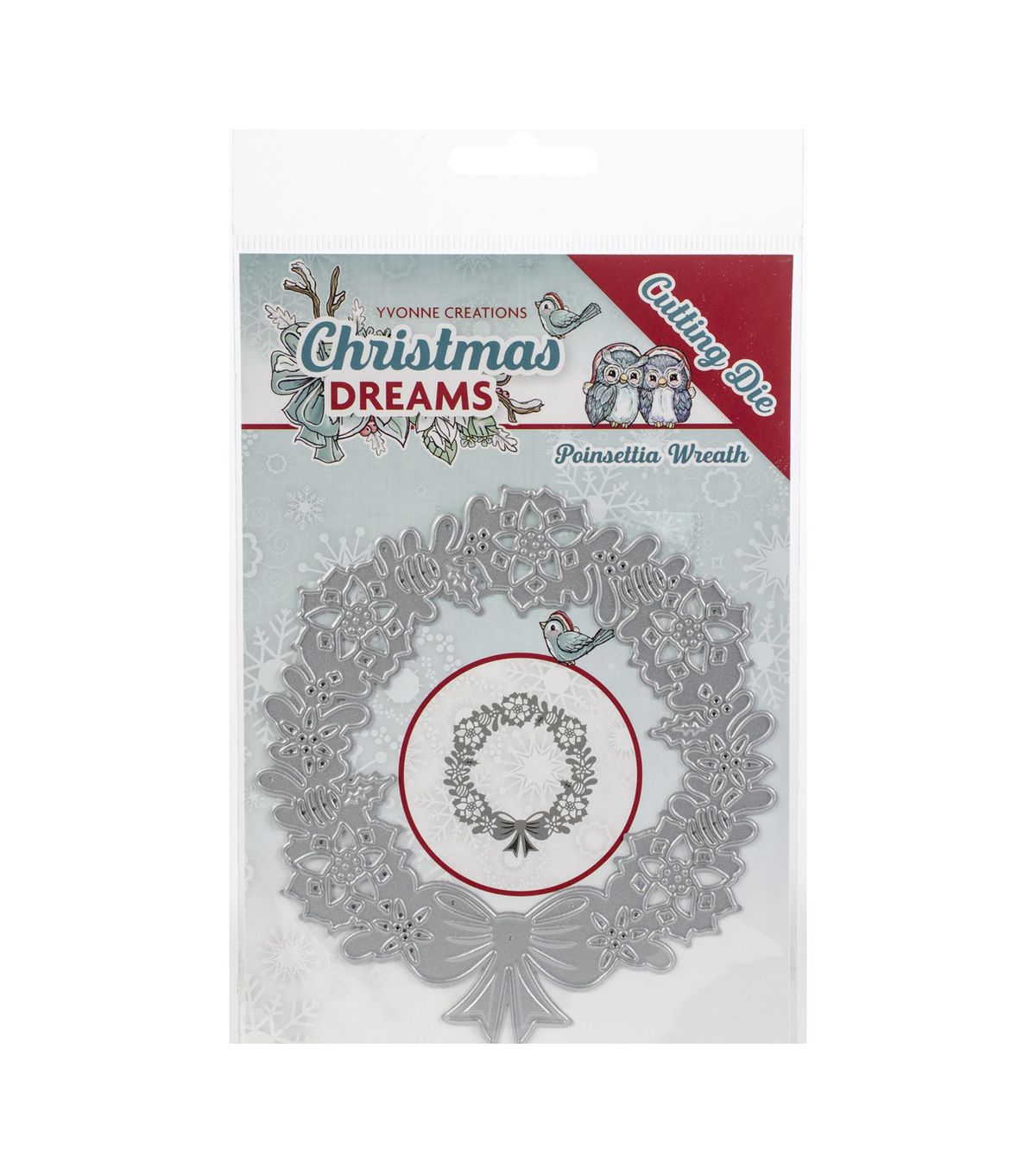 Find It Trading Yvonne Creations Christmas Dreams Die-Poinsettia Wreath