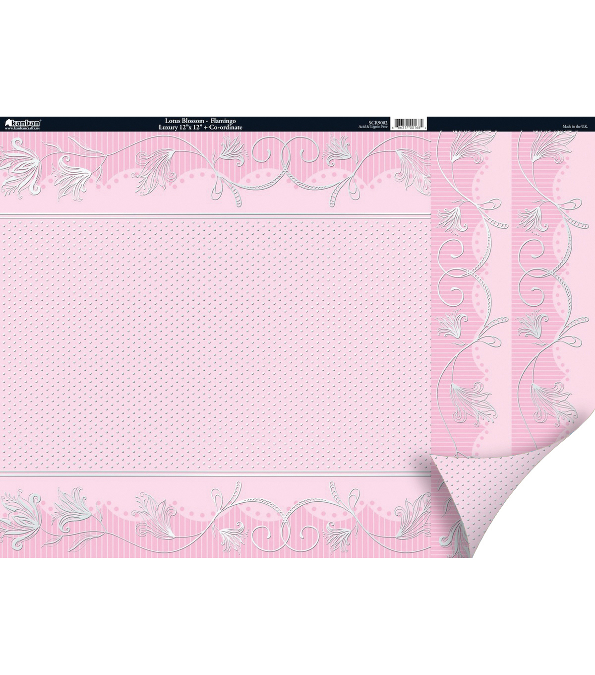Kanban Free As A Bird 2-Sided Cardstock-Lotus Blossom Flamingo Pink