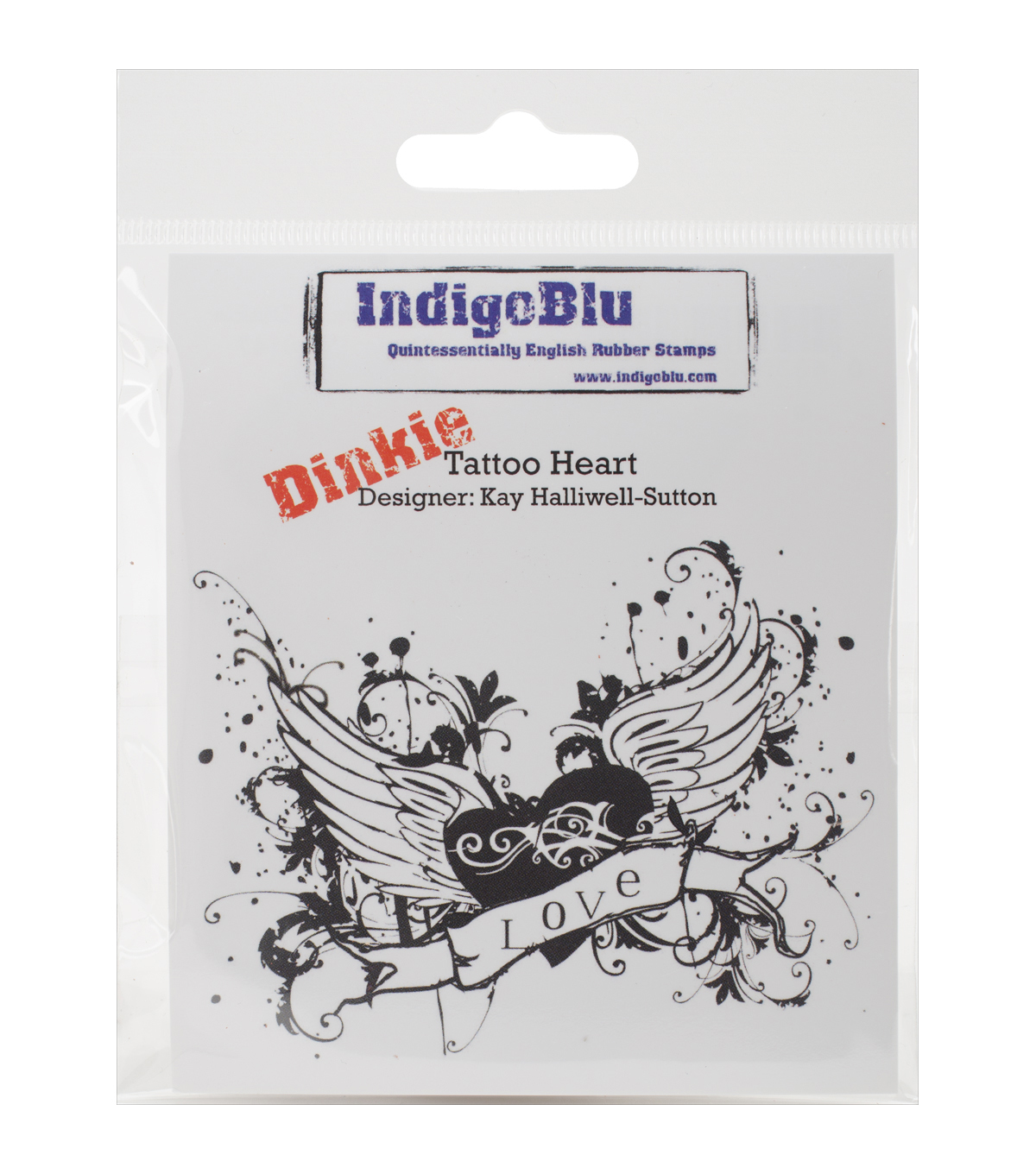 Indigoblu Tattoo Heart Cling Mounted Stamp