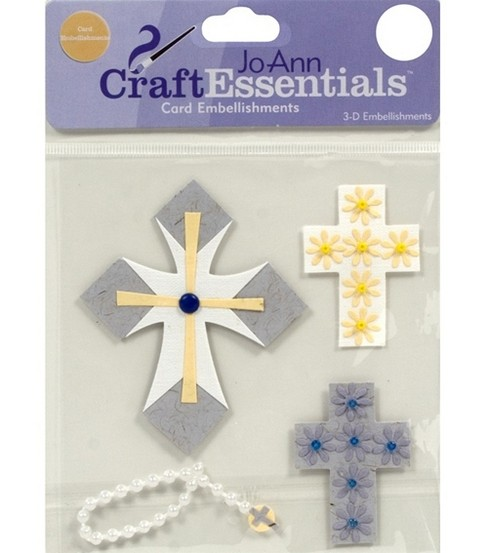 Craft Essentials Crosses Embellishment