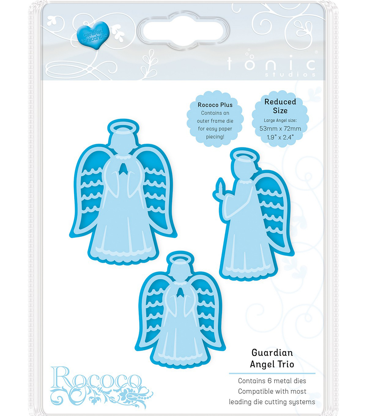 Tonic Studios Christmas Rococo Plus 6 pk Dies-Guardian Angel Trio