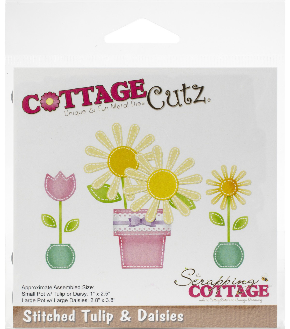 CottageCutz Die-Stitched Tulip & Daisies 1\u0022 To 3.8\u0022