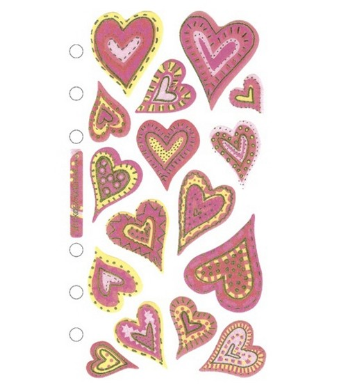 Sticko Vellum Stickers-Expressive Hearts