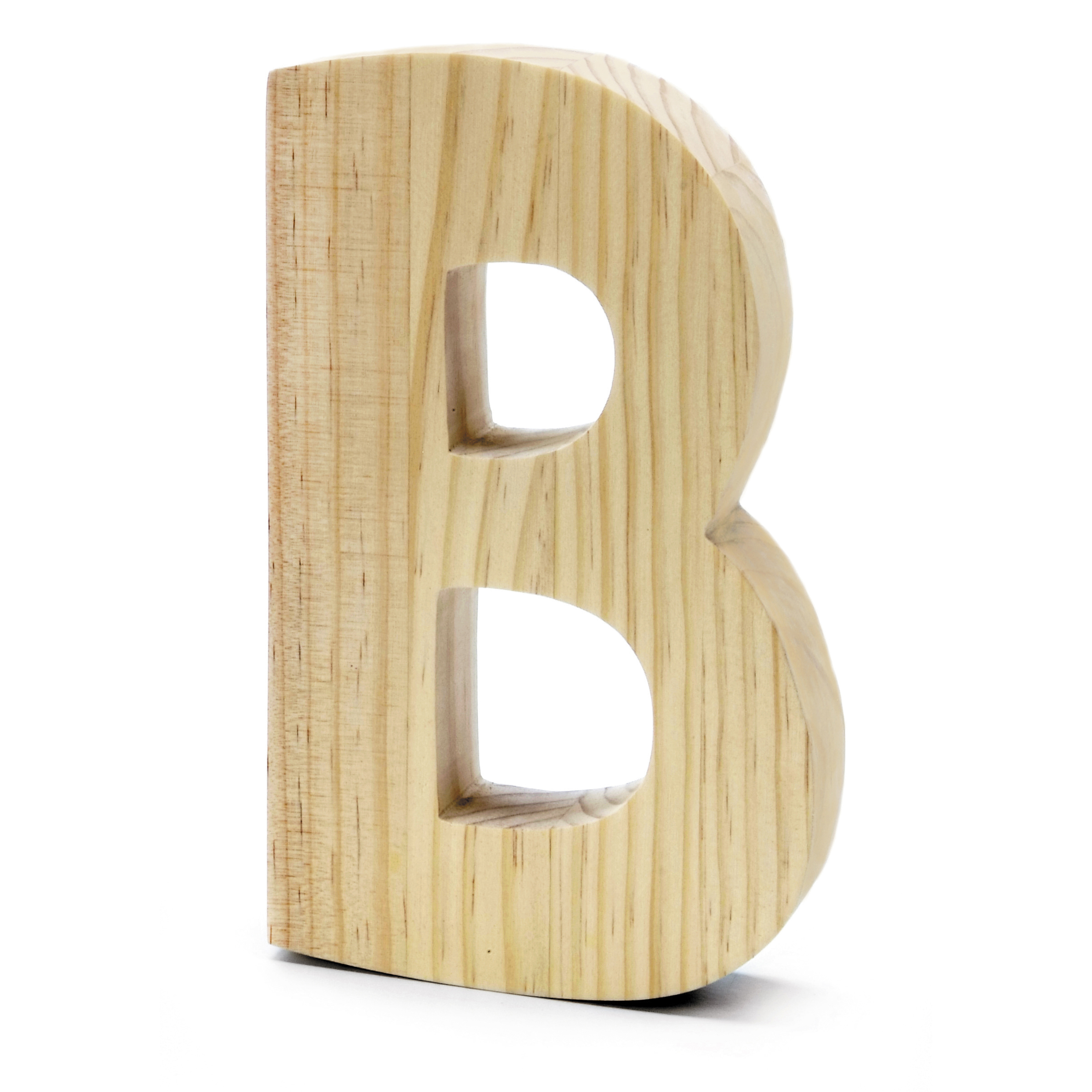 Chunky Wood Letter 8 X 5 In, B