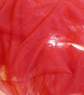 Casa Collection Tulle Fabric -Tango Red