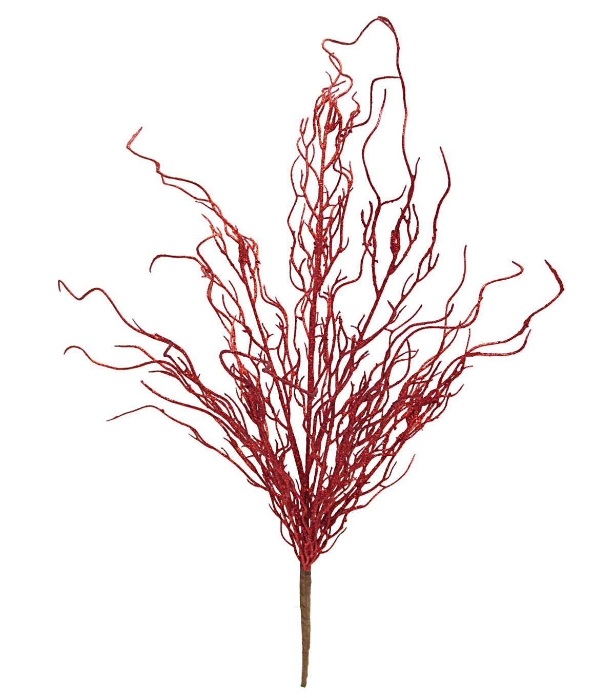 Blooming Holiday Christmas 27\u0027\u0027 Glitter Coral Bush-Red