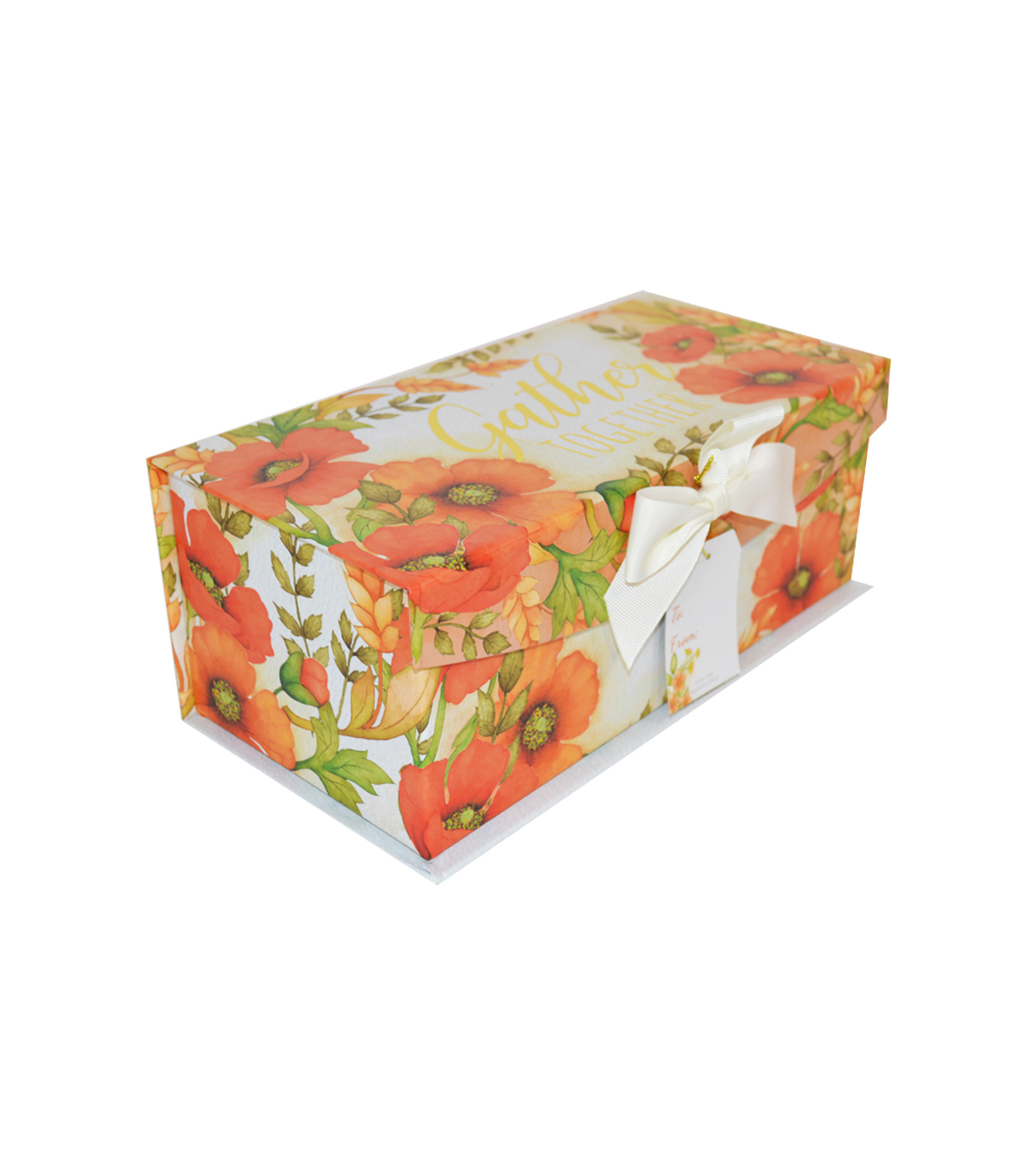 Organizing Essentials Medium Fliptop Storage Box-Harvest Floral Rings