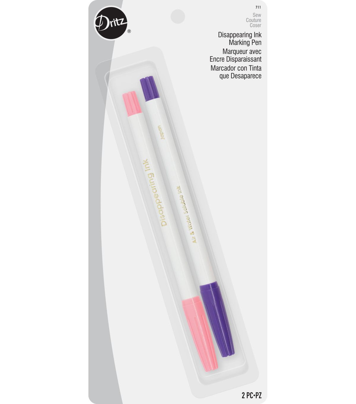 Dritz Disappearing Ink Marker Pens Combo Pack