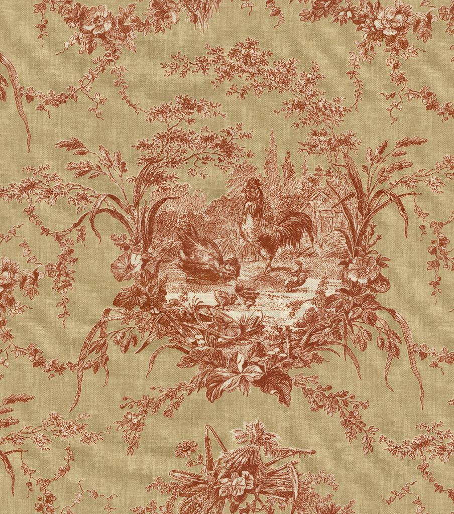 Waverly Multi Purpose Decor Fabric 54\u0022 La Petite Ferme/Ruby