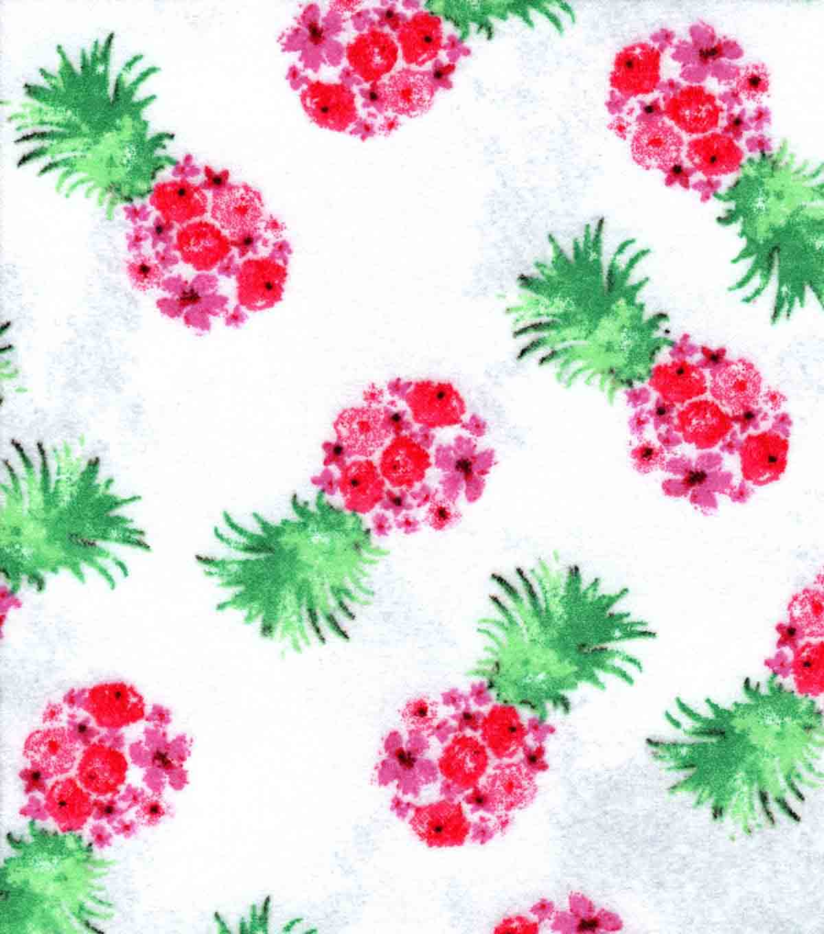 Luxe Flannel Fabric 42\u0027\u0027-Pineapples
