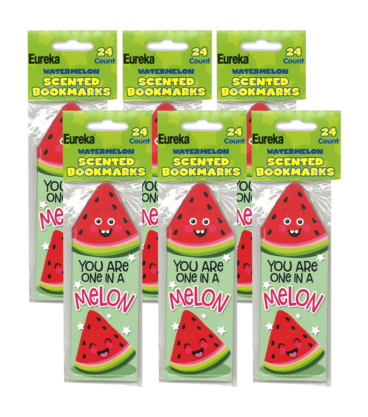 Watermelon Scented Bookmarks, 24 Per Pack, 6 Packs