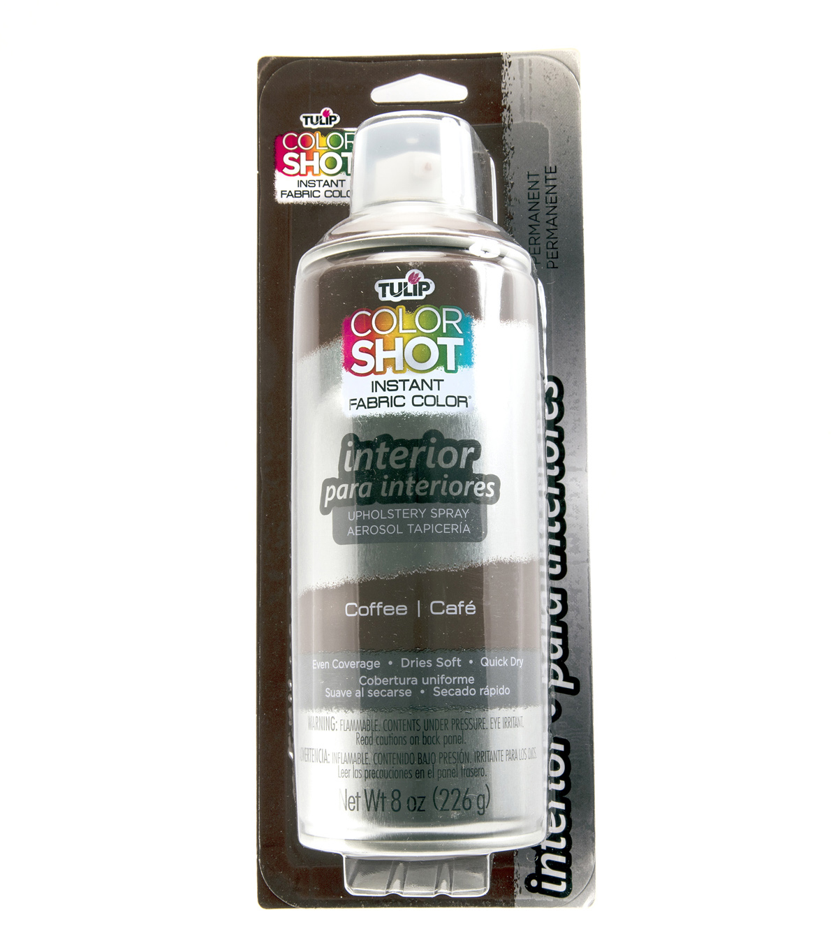 Tulip ColorShot 8oz Indoor Upholstery Spray, Coffee